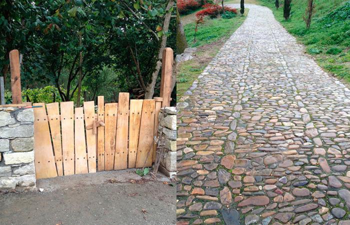 Creación de camino con piedra natural