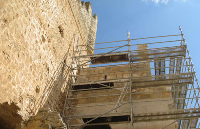 obras de restauración de castillos
