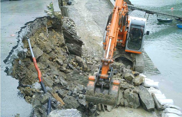construcción de infraestructuras portuarias